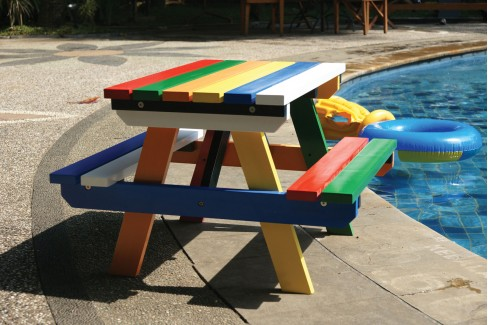 Kinder picknicktafel hardhout