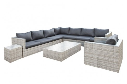 Wicker Loungeset Greenwood - grijs gemêleerd