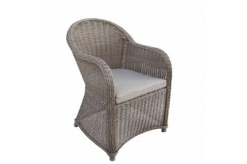 Wicker Luxe stoel Davidson - donker bruin